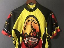 """Moab Brewery World Jerseys Cycling Jersey Shirt """"Over the Top"""" Men's Large Utah"""