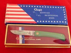 """Case XX USA G137 SS 3-5/8"""" Kentucky Bicentennial Sodbuster sod buster knife MIB"""