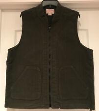 CC Filson Vest Green Cotton Size Large