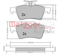 Bremsbelagsatz, Scheibenbremse für Bremsanlage Hinterachse METZGER 1170006