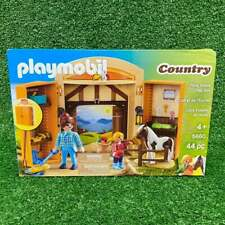 NEW In Box Playmobil Country #5660 PONY STABLE PLAY BOX 44pc Ages 4+ Unopened