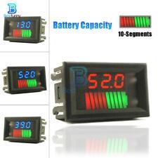 10 Segment Battery Capacity Power Level LED Indicator Display 12/24/36/48/60/72V