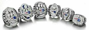 6PCs (01 03 04 14 16 18) New England Patriots World Championship Ring //