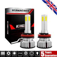 2X H4 H7 H11 CREE 4-Sides LED Headlight 200W 30000LM Hi/Low Kit Bulbs Beam 6000K