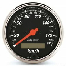 """Auto Meter 1487-M 3-1/8"""" Electric Speedometer, 0-190 KM/H, Designer Black"""