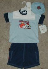 Peanuts Baby Snoopy Boys 3-Pc Outfit Top, Shorts, Cap Sports Star Size 24 Months