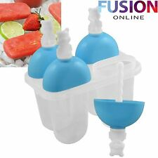 4 FREEZER ICE LOLLY DIY CREAM YOGURT ICEBOX JUICE MAKER POP MOLD MOULD POPSICLE