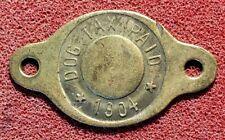 1904 Dog Tax Paid☆Free Ship☆☆pdt279