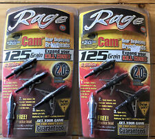 Rage Cam 125 Grain 2 Blade Broad heads 2 Packs 8 Total Broad heads! NIB
