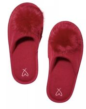 Victoria's Secret Red Pom Pom Slippers Size M 7-8 Limited Edition New