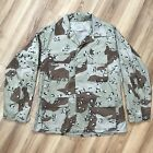 Vintage US Army Military Chocolate Chip Desert Camouflage Combat Jacket Mens M