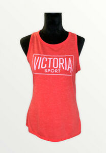 Pink By Victorias Secret Sport Ladder Back Strappy Red Top Sz Small