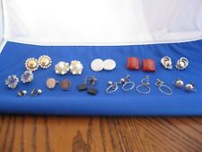 Collection of 12 pair of Vintage earrings, Clip or screw back.