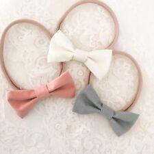 Pink, Vanilla + Grey Bow Headband Packs, newborn, baby, girl, pink, white