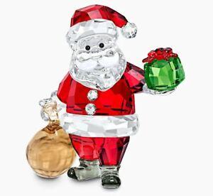 Swarovski Santa Claus with Gift Bag (5539365) Figurine - Brand New