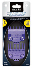 Andis Master Barber Magnetic Clipper Guard Guide Purple Comb Set #01900 - NEW