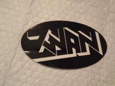 One Black And White Oval Zwan Sticker