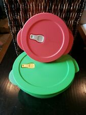 New Tupperware Crystalwave Microwave Reheatable 2 Container Set