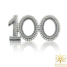 100 CoCo Pearl Rhinestone Brooch Women's Lapel Pin