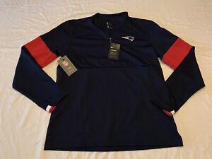 NWT Nike New England Patriots 1/4 Zip Pullover Jacket Mens Medium Therma Dri-Fit