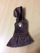 Barbie Doll Fashion Fever Sleevless Hooded Brown Sparkly Dress Outfit Clothes