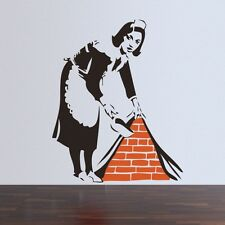 BANKSY MAID IN LONDON... AUTOCOLLANT MURAL UK Stock