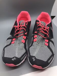 ON Cloud Women's Running Athletic Shoes Pink & Gray Grey Swiss Engineering W8
