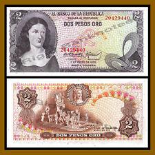 Colombia 2 Pesos Oro, 1973 P-413a Unc