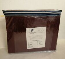 Wamsutta 500 THREAD COUNT SHEET SET FULL PIMACOTT SOLID BURGUNDY
