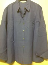 Womans Clothing Company Size 18 Lavender Long Sleeve Blouse