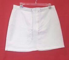 Women's Tommy Hilfiger 8 - 10 Stretch Cotton White mini jean Skirt  32 x 16 Med.