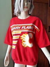 True Vintage Calgary Flames NHL Canadian Hockey Red Sweater Short Sleeve Large