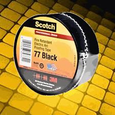 3M Scotch 77 Fire-Retardant Electric Arc Proofing Tape, 20 ft, Black, (Qty 1)