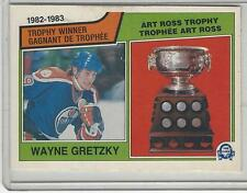 1983-84 OPC #204 WAYNE GRETZKY ART ROSS TROPHY WINNER  NICE CARD