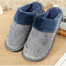 Men's Home Slippers Shoes Thick Indoor Shlipper Anti Slip House Shoes US 10.5