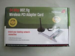NEW Startech Wireless PCI Adapter Card -54 Mbps 802.11g