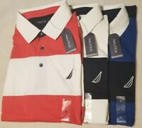 $69 NEW NWT NAUTICA MEN'S POLO SHIRT SIZE L XL XXL 2X S/S RUGBY STRIPE CLASSIC