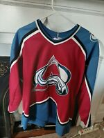 Vintage 90s NHL Colorado Avalanche Hockey Starter Jersey Mens medium Ships fast