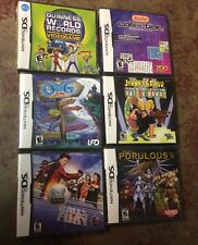Lot Of 6 Nintendo DS Factory Sealed Games Populous,omg,puzzles ++
