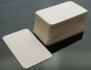 100x Blank FlashCards - Plain White index Revision Notes Early Learning Aid Card