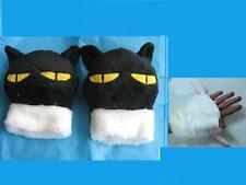 Anime CAFE *Trigun Kuro Neko Cat * Cosplay Soft Plush Gloves