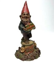 Vintage 1984 Carin Studio TOM CLARK Signed 'HAPPY' #79 Gnome w/ Gift Figurine