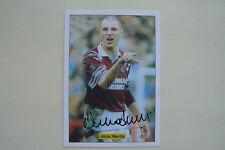 JF Sporting da collezione TRADE card Alvin Martin (West Ham) firmato da lui stesso