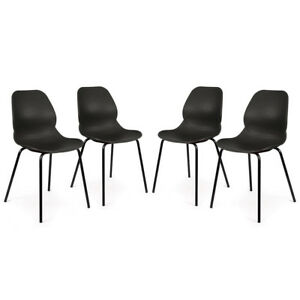 NEW! SET OF 4 RETRO MODERN GUEST CHAIR - NOVA UTILITY RECEPTION EVENT SIDE CHAIR