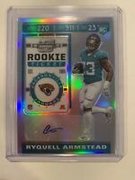 RYQUELL ARMSTEAD 2019 CONTENDERS OPTIC  SILVER PRIZM AUTO RC TICKET JAGUARS