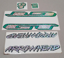 Vintage Old School GT BMX Stickers Crystal Shine NOS Green