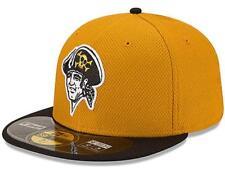 b432f4bd68f MLB Pittsburgh Pirates Diamond Era Alternate 59fifty Baseball Cap  Mustard black 7 1 2