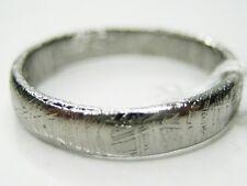 6/ L1/2  GIBEON IRON NICKEL METEORITE 4MM THIN BAND RING