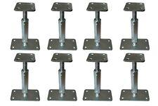8xPfostenträger verstellbar Höhe 160-220 mm höhenverstellbar Stützenfuß Carport