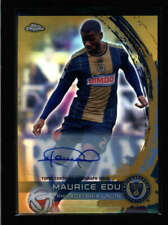 MAURICE EDU 2014 TOPPS CHROME MLS GOLD REFRACTOR AUTOGRAPH AUTO #43/50 AN2948